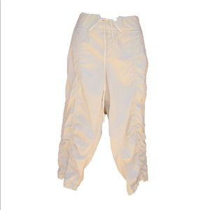 XCVI Pants - XCVI Cotton Ruched Cropped Pants