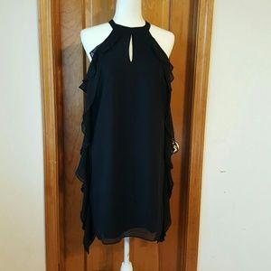 BOGO BAR lll sexy little black Ruffle dress