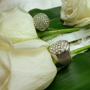 Statement Ring Sparkling Stones