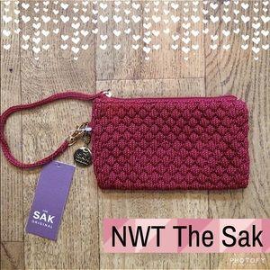 "The Sak Handbags - NWT The Sak Wristlet•Maroon•""Christy"" Style"