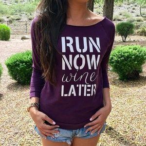 MK Boutique Tops - 🍷3/4 Run Now Lightweight Sweat Shirt
