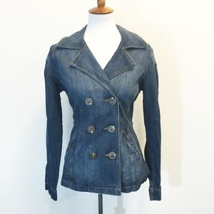 CAbi Jackets & Blazers - CAbi Double Breasted Jean Jacket