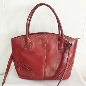 Fossil Handbags - •Fossil• Vintage Red Crossbody Bag