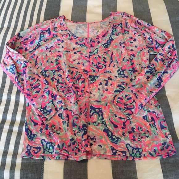 Lilly Pulitzer Tops - Lilly Pulitzer Luxletic Long-sleeve T-Shirt