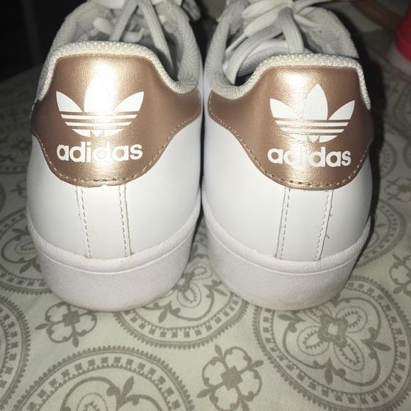 finest selection 522fb 8de09 adidas Shoes - Adidas Superstar Sneakers - Rose Gold, Sz 10 Women