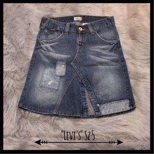 Levi's Dresses & Skirts - Levi's Vintage Distressed Patchwork Denim Skirt