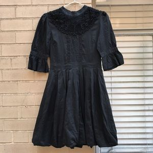 Lace Bubble Hem Dress