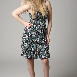 City Studio Dresses & Skirts - Floral Ruffle Dress Low Cut