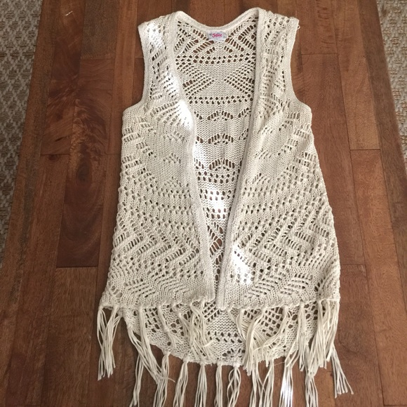 Girls Crochet Vest