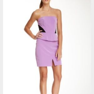 ABS Allen Schwartz Dresses - ABS colorblock peplum dress, NWT, size 8