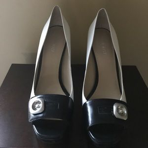 Black and white heels by Nine West