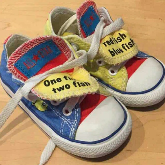Dr Seuss One Fish Two Fish Converse Shoes