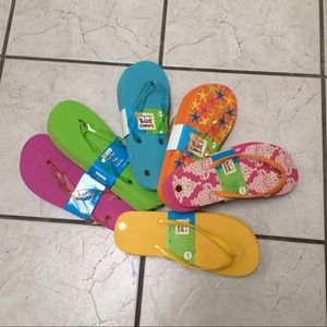 Shoes - Bundle of Six pairs of Flip-Flops NWT Size L