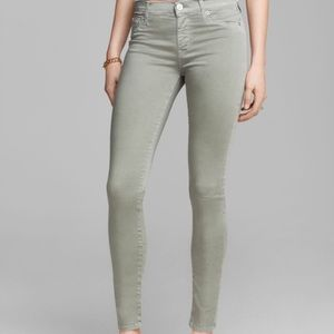Hudson 'Nico' Super Skinny Jeans in washed Forest
