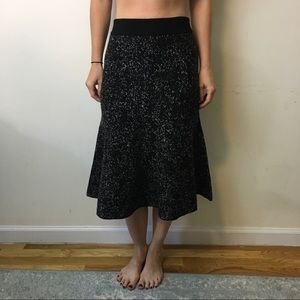 Theory Dresses & Skirts - Theory Black Grey Speckled Tulip Wool Skirt