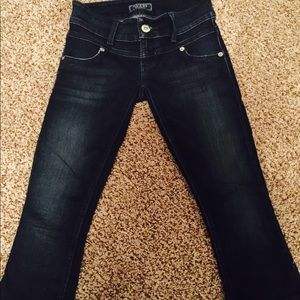 Guess Denim - Guess cropped zipper jeans