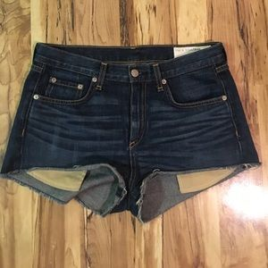 Rag and bone high waist jean shorts
