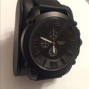 Titanium Other - Men's Titanium Black Watch