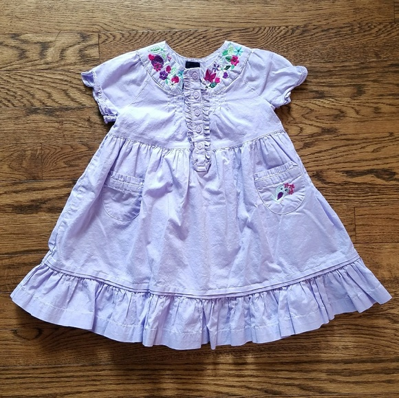 Off gap other baby purple dress with embroidered
