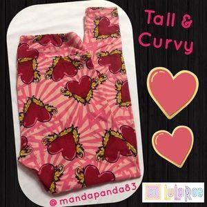 LuLaRoe Tall & Curvy Valentine's Leggings