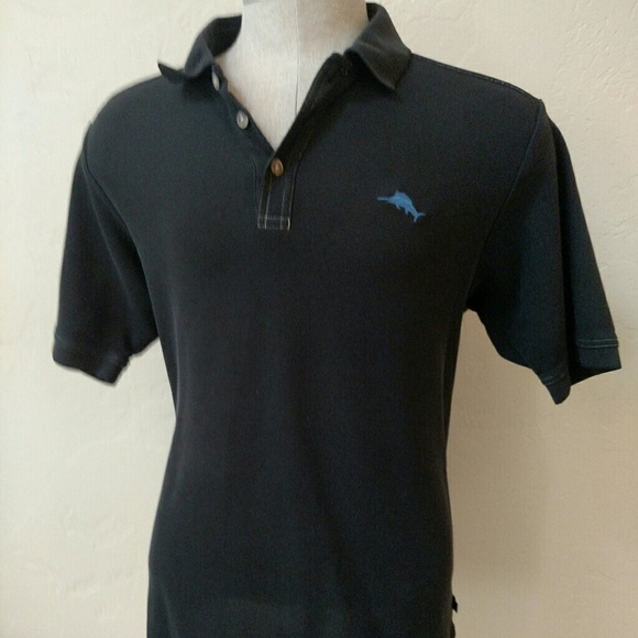 31 off tommy bahama other tommy bahama black polo for Tommy bahama polo shirts on sale
