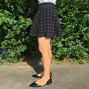 Textured Plaid Skirt