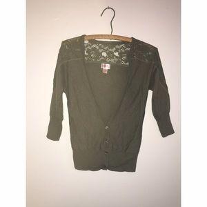 Olive Green Cardigan Size XS