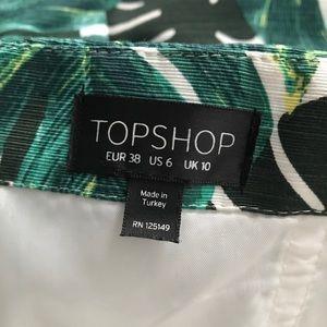 5aca55de323 Topshop Pants - Topshop Palm Print Notched Neck Romper