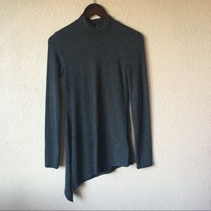 Anthropologie Sweaters - Anthropologie Everleigh Gray Turtleneck Top