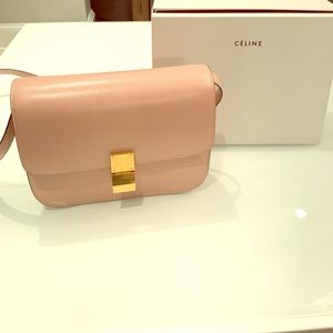 Celine Handbags - Celine Medium Classic Box Shoulder Bag - Blush