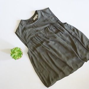1. State Tops - 1.State Army Green Sheer Detail Blouse