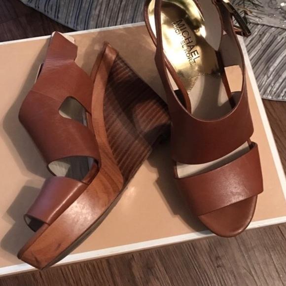 MICHAEL Michael Kors Shoes - michael kors | brown wedge sandal