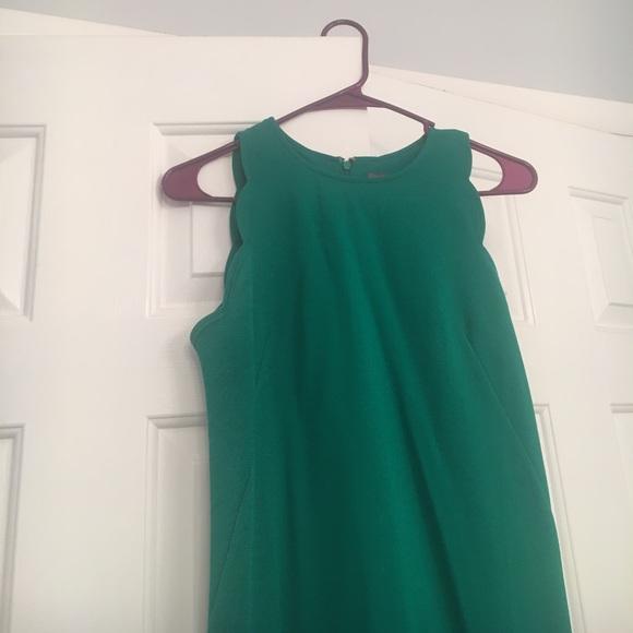 Green Scalloped Dress