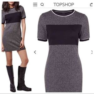 TOPSHOP colorblock jersey dress US 6