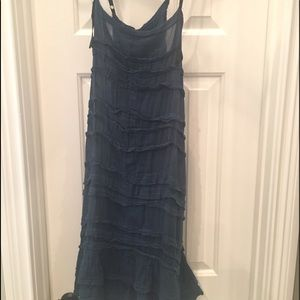 Free People tiered slip dress
