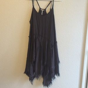 Free People tattered hem slip dress