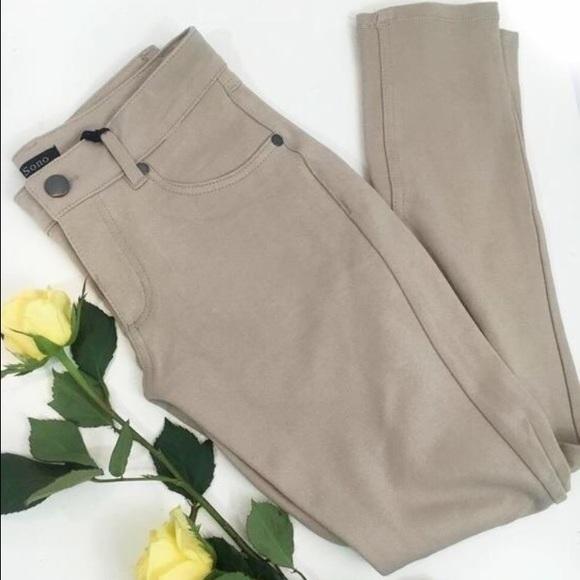 Naturally Spiritual Pants - LAST PAIR! Khaki stretch jegging skinny pants