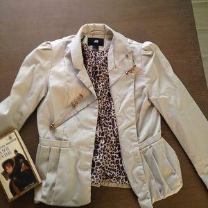 Beige/khaki colored blazer jacket