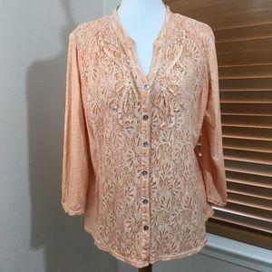 Reba Tops - Reba XL light embroidered embellished too