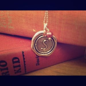 Jewelry - Silver S Charm Monogrammed Necklace