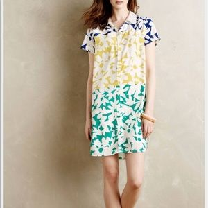 Whit two Dress bloom Anthropologie Floral XS