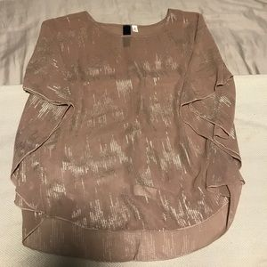 Francesca's Collections Tops - Francesca's Collection Nude Top