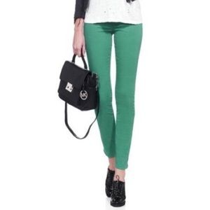 J Brand Denim - J Brand Size 29 Emerald Green Skinny Jeans