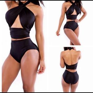 Other - Women Halter Geometric Print High Waisted Swimsuit