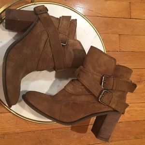 🚨sale🚨ZARA BASIC Pre-owned Brown Ankle Boots