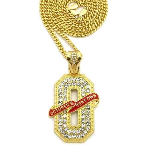 Accessories 14k gold plated ovo o pendant 24 cuban chain poshmark 14k gold plated ovo o pendant 24 cuban chain aloadofball Choice Image