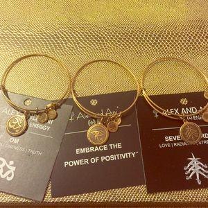 Alex & Ani Jewelry - Three Beautiful Alex & Ani Bracelets