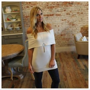 Ivory off the shoulder tunic/dress