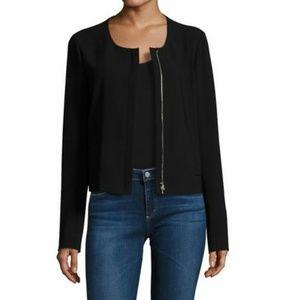 Theory Jackets & Blazers - Theory black crepe hidden zipper jacket NWT 0
