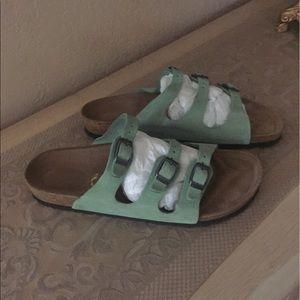 Birkenstock Shoes - Birkenstock sandals suede green sz. 40  $ 65